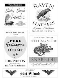 halloween apothecary jar labels free halloween apothecary printables confessions of a new old