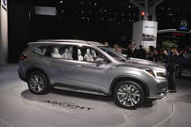 subaru suv concept subaru ascent concept debuts with stunning interior in new york