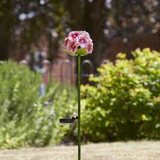 flower solar stake lights pink bloom flower solar light available at this is it stores uk