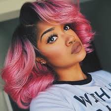dyed weave hairstyles pictures of black hairstyles with color unique dip dyed pink bob