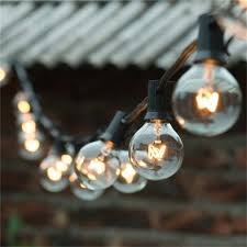 incandescent strip light bulbs 1x 25 g40 globe bulbs incandescent string strip light patio garden