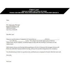 10 formal resignation letter templates u2013 free sample
