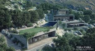 mountainside house plans contemporary sod roofs modern mountainside villa with turf