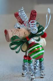 reindeer ornaments by thecorkforest on etsy by selena