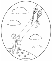 free coloring page kite