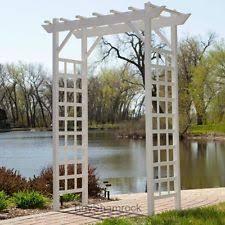 wedding arch garden garden arbor arch wedding planters backyard decor patio flowers