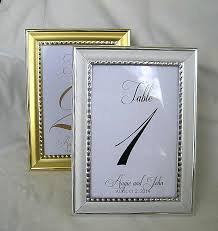 silver wedding table numbers wedding table number card frame silver gold frame table cards gold