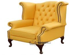 yellow wingback chair queen anne high back wing chair queen anne