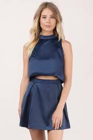 navy skater dress dress set pleated dress pretty blue dress