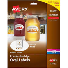 avery r print to the edge glossy oval labels true print tm