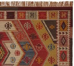 recycled yarn kilim indoor outdoor rug warm multi