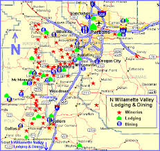 map of oregon wineries maps page n willamette valley wine country lodging and dining