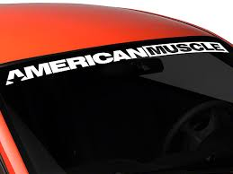 mustang windshield decal graphics mustang americanmuscle windshield