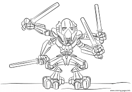 lego general grievous coloring pages printable