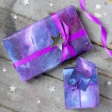 galaxy wrapping paper galaxy gift wrapping paper set folksy