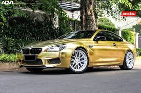 custom bmw m6 fashion look of bmw m6 coupe with a gold vinyl wrap u2014 carid com