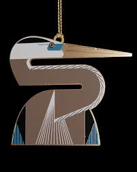 brass heron ornament architectgiftsplus