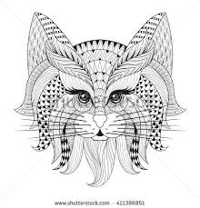 24 cat templates zentangle images coloring