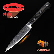 online get cheap kitchen knife cuts aliexpress com alibaba group 6 quot inch chef knife damascus kitchen knives high quality cut beef meat knife black wooden