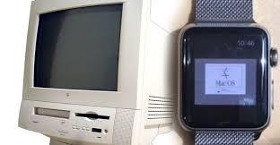 mac ordinateur de bureau 20 ans après mac os 7 5 5 tourne sur une montre tech numerama