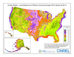 Topographic Map Of The United States by Wind Maps Geospatial Data Science Nrel