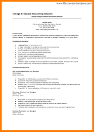 Sample Resume Senior Accountant Accounting Graduate Resume Template Virtren Com
