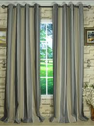 modern wide striped cotton blend blackout grommet ready made curtain