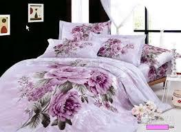 Twister Duvet Set Purple Lilac Floral Bedding Comforter Set King Queen Size
