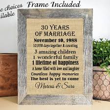 30th wedding anniversary gift 30th anniversary gift for parents etsy
