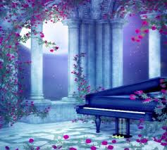 flower moonlit serenade flowers blue light music piano roses