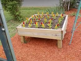 4x4 cube raised flower bed scrap wood projects pinterest