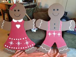 4 ft gingerbread boy u0026 cut out of wood and painted for the
