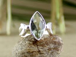 green amethyst engagement ring marquise amethyst ring green amethyst silver green discovered