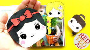easy snow white bookmark corner diy disney princesses crafts