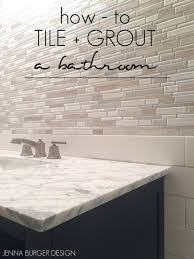 master bathroom renovation tile grout jenna burger