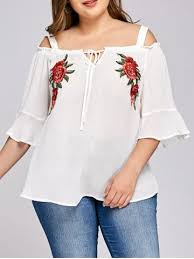 peasant blouse plus size plus size peasant tops lace chiffon and crochet cheap with free