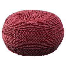 Knitted Ottoman Ramon Color Cable Knit Pouf Reviews Wayfair