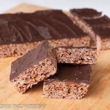 sweet twist of blogging chocolate caramel mars bar rice krispies