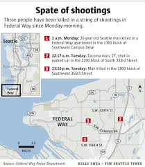 Seattle Police Map Federal Way Police Urge Caution Add Patrols After 3 Deadly