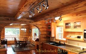 Log Home Pictures Interior Search Two Level Meadowlark Log Homes