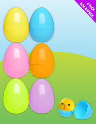 large fillable easter eggs pack of 6 large fillable plastic eggs ideal for easter egg hunts