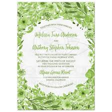 wedding invitations greenery greenery botanical foliage wedding invitation green white watercolor