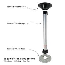 table leg mounting hardware sequoia iii table leg base system itc marine