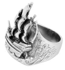 contemporary jewellery melbourne ship ring sailing ship ring sailor jerry ship ring lord coconut