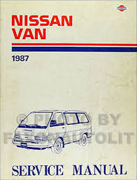 1987 1990 nissan van body repair shop manual original