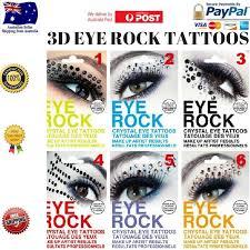 rtreye rock rhinestone eye eyeliner sticker