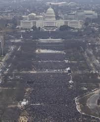 picture of inauguration crowd park service photos challenge trump on inauguration daily mail