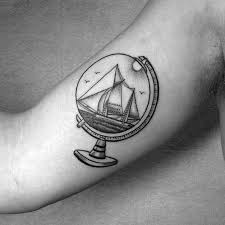 wanderlust globe tattoos