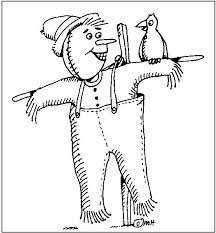 scarecrow coloring scarecrow coloring pages arterey