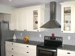 Backsplashes Pale Blue Glass Tile Backsplash Farmhouse Kitchen - Stainless tile backsplash